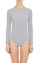 Tomas Maier Long Sleeve One Piece Swimsuit White