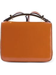 Marni 'Sculpture' Satchel Brown