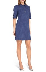 Women's Tahari Chambray A Line Shirtdress