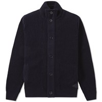 Barbour Helm Button Through Cardigan Blue