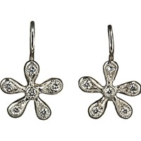 Cathy Waterman Women's Pave Diamond Medium Daisy Earrings No Color