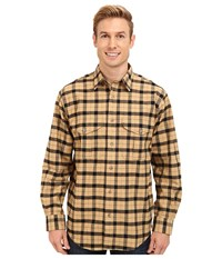 Filson Alaskan Guide Shirt Camel Black Men's Long Sleeve Button Up Tan