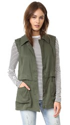 Cupcakes And Cashmere Adison Vest Army Green