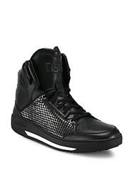 Dsquared Vitello Studded Sport High Top Sneakers Black