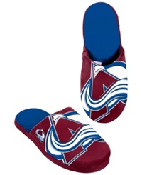 Forever Collectibles Men's Colorado Avalanche Big Logo Slippers Navy Maroon