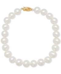Honora Style Freshwater Cultured Pearl Bracelet 6 7Mm In 14K Gold