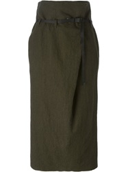 Erika Cavallini Semi Couture 'River' Skirt Green