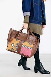 Ecote Kilim Leather Doctor Bag Brown