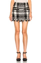 Alexander Wang Mini Triangle Hem Skirt In Black Checkered And Plaid Black Checkered And Plaid