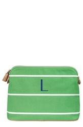 Cathy's Concepts Personalized Cosmetics Case Green L