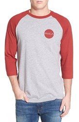 Men's Rvca 'Dotty' Raglan Baseball T Shirt