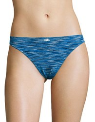 Candc California Logo Seamless Thong Cool Blue