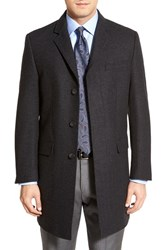 Men's Big And Tall Hart Schaffner Marx 'Maitland' Classic Fit Wool Blend Overcoat Dark Charcoal