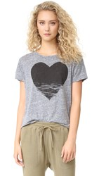 Sundry Static Heart Loose Tee Heather Grey