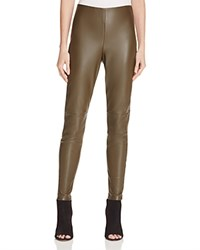 Bagatelle Faux Leather Leggings Olive