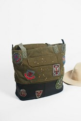 Free People Womens Washed Military Tote