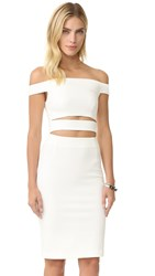 Nicholas N Ponte Cutout Dress White