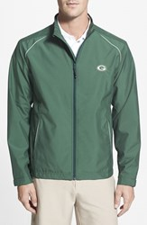 Men's Big And Tall Cutter And Buck 'Green Bay Packers Beacon' Weathertec Wind And Water Resistant Jacket