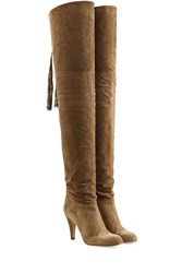 Chloe Suede Over The Knee Boots Brown