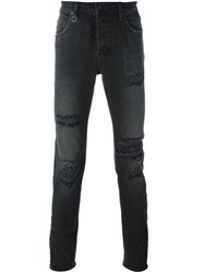 Neuw Distressed Skinny Jeans Black