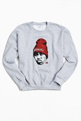 Urban Outfitters Nas Illmatic Fleece Crew Neck Sweatshirt Grey
