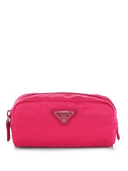 Prada Nylon Zip Cosmetic Case Fuchsia Royal