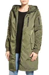 Steve Madden Women's Ruched Hooded Parka