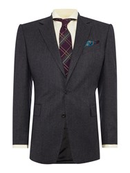 Chester Barrie Plain Tailored Fit Suits Charcoal