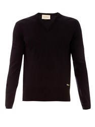 Gucci V Neck Wool Sweater