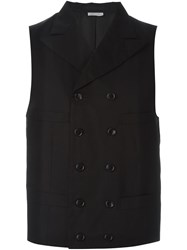 Comme Des Gara Ons Homme Plus Double Breasted Waistcoat Black