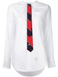 Thom Browne Oxford Tie Blouse White