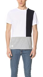 Native Youth Colorblock Tee Grey White
