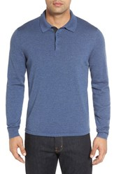 John W. Nordstromr Men's Big And Tall Nordstrom Wool Polo Sweater Navy Crown