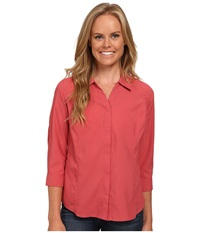 Royal Robbins Expedition Stretch 3 4 Sleeve Dixie Rose Women's Long Sleeve Button Up Pink