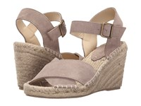 Soludos Crisscross Wedge Feather Gray Suede Women's Wedge Shoes