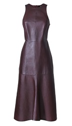 Tibi Leather Fluted Dress
