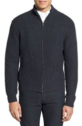 Men's Kent And Curwen 'Aran Splice' Wool And Cashmere Zip Cardigan
