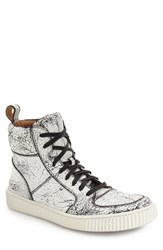John Varvatos Men's Star Usa 'Bedford' High Top Sneaker Marble Leather