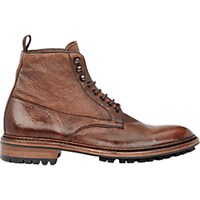 Barneys New York Men's Washed Leather Boots Brown