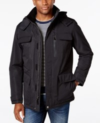 London Fog Big And Tall Military Puffer Coat Black Pacific Blue