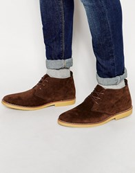 New Look Desert Boot In Dark Brown Darkbrown