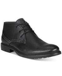 Unlisted By Kenneth Cole Men's On The Subject Plain Toe Chukka Boots Men's Shoes Black