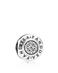 Pandora Design Pandora Charm Sterling Silver And Cubic Zirconia Pandora Signature Moments Collection Clear Silver