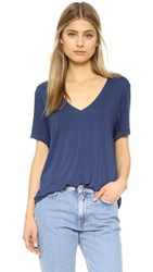 Feel The Piece Staton V Neck Tee Baltic Ash