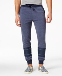 Ring Of Fire Colorblocked Fleece Jogger Pants Navy Heather