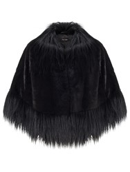 Phase Eight Riley Faux Fur Cape Black