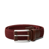 Andersons Anderson's Woven Textile Belt Burgundy