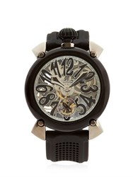 Gaga Milano Crystal Pvd Skeleton Watch