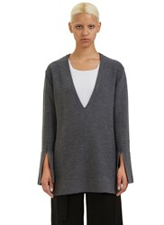 Calvin Klein Barry Oversized V Neck Sweater Grey