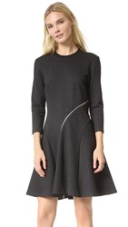 Mcq By Alexander Mcqueen Ergonomic Zip Dress Charcoal Melange